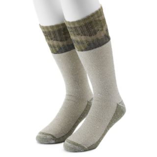 Men's Croft & Barrow® 2-Pack Two Tone Camo Crew Socks