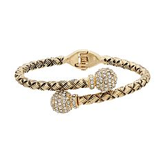 Napier Braided Hinged Cuff Bracelet