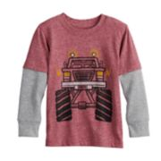 Toddler Boy Jumping Beans® Mock Layer Thermal Graphic Tee