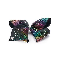 Girls 4-16 JoJo Siwa Rainbow Foil Heart Bow