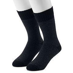 Men's Croft & Barrow® 2-Pack Wool Blend Two Tone Boot Crew Socks