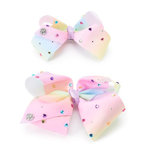 Girls 4-16 JoJo Siwa Rainbow Rhinestone Bow & Doll Bow Set