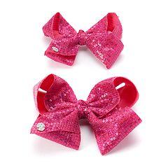 Girls 4-16 JoJo Siwa Pink Sequin Bow & Doll Bow Set