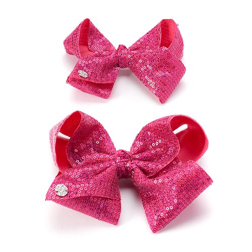 Girls 4-16 JoJo Siwa Pink Sequin Bow & Doll Bow Set