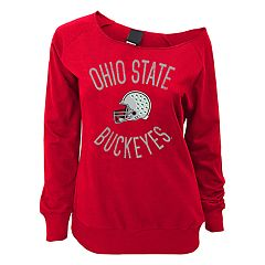 Juniors' Ohio State Buckeyes Flashdance Slouch Crewneck