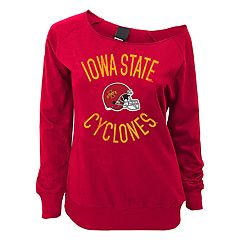 Juniors' Iowa State Cyclones Flashdance Slouch Crewneck