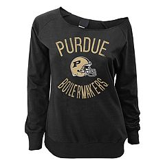 Juniors' Purdue Boilermakers Flashdance Slouch Crewneck