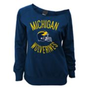 Juniors' Michigan Wolverines Flashdance Slouch Crewneck