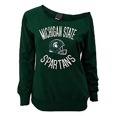 Juniors' Michigan State Spartans Flashdance Slouch Crewneck