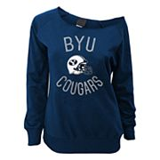 Juniors' BYU Cougars Flashdance Slouch Crewneck