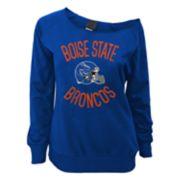 Juniors' Boise State Broncos Flashdance Slouch Crewneck
