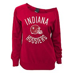 Juniors' Indiana Hoosiers Flashdance Slouch Crewneck