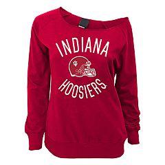 Juniors' Indiana Hoosiers Flashdance Slouch Crewneck