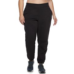 Plus Size Tek Gear® Fleece Banded Bottom Mid-Rise Sweatpants