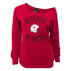 Juniors' Nebraska Cornhuskers Flashdance Slouch Crewneck