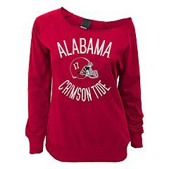 Juniors' Alabama Crimson Tide Flashdance Slouch Crewneck