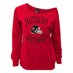 Juniors' Rutgers Scarlet Knights Flashdance Slouch Crewneck
