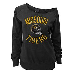 Juniors' Missouri Tigers Flashdance Slouch Crewneck