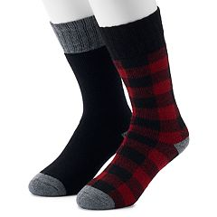 Men's Croft & Barrow® 2-Pack Patterned Boot Crew Socks