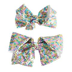 Girls 4-16 JoJo Siwa Sequin Bow & Doll Bow Set