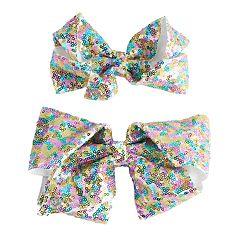 Girls 4-16 JoJo Siwa Sequin Bow & Doll Bow Set