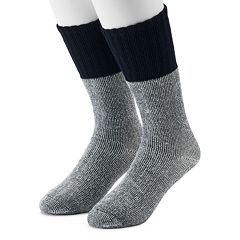 Men's Croft & Barrow® 2-Pack Colorblock Extended Size Crew Socks