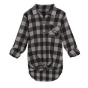 Juniors' Wisconsin Badgers Spirit Week Tie-Front Flannel Shirt