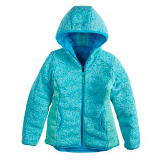 Girls 7-16 Rosemont 1958 Wenna Reversible Quilted Puffer & Sweater Fleece Midweight Jacket