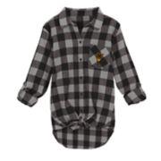Juniors' Arizona State Sun Devils Spirit Week Tie-Front Flannel Shirt