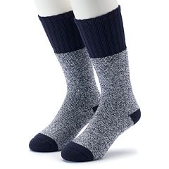 Men's Croft & Barrow® 2-Pack Marled Extended Size Crew Socks