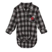 Juniors' Nebraska Cornhuskers Spirit Week Tie-Front Flannel Shirt
