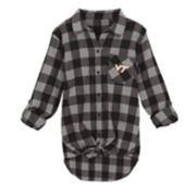 Juniors' Virginia Tech Hokies Spirit Week Tie-Front Flannel Shirt