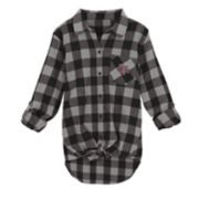 Juniors' Texas A&M Aggies Spirit Week Tie-Front Flannel Shirt