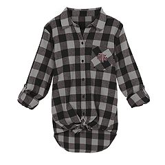 Juniors' Texas A&M Aggies Spirit Week Tie-Front Flannel Shirt