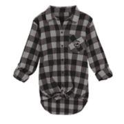 Juniors' South Carolina Gamecocks Spirit Week Tie-Front Flannel Shirt