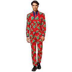 Men's OppoSuits Slim-Fit Fine Pine Novelty Suit & Tie Set