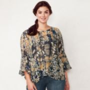 Plus Size LC Lauren Conrad Bell-Sleeve Top