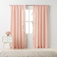 LC Lauren Conrad Lucie Side Ruffle Window Curtain