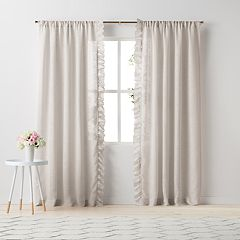 LC Lauren Conrad Lucie Side Ruffle Window Curtain