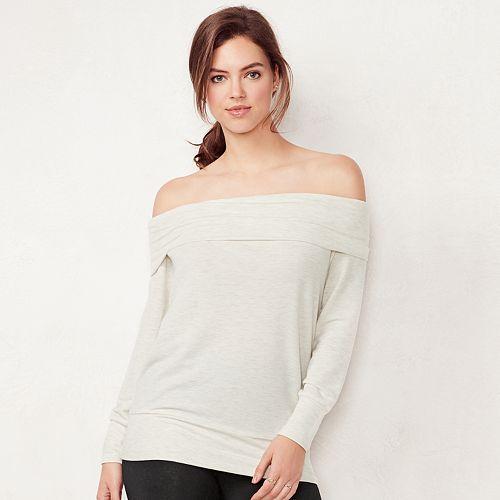 e9babc0725d47f Women s LC Lauren Conrad Weekend Off-the-Shoulder Sweatshirt