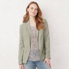 Women's LC Lauren Conrad Relaxed Open-Front Blazer