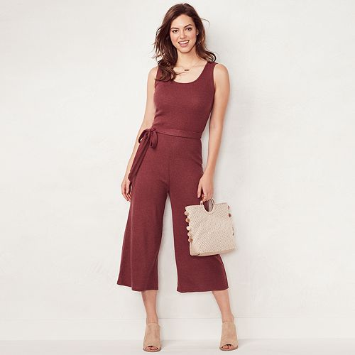Women s LC Lauren Conrad Weekend Wide-Leg Capri Jumpsuit 0be8a9e55