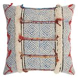 Mina Victory Life Styles Diamonds Stonewash Throw Pillow