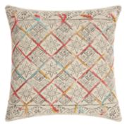 Mina Victory Life Styles Tile Stonewash Throw Pillow