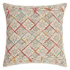 Mina Victory Life Styles Tile Stonewash Throw Pillow