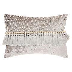 Mina Victory Life Styles Velvet Tassels I Oblong Throw Pillow