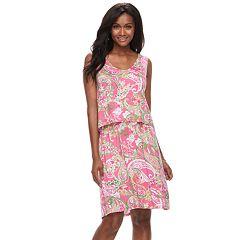 Women's Caribbean Joe Tropical Print Popover Dress