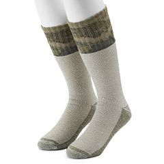 Men's Croft & Barrow® 2-Pack Colorblock Camo Extended Size Crew Socks
