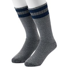 Men's Croft & Barrow® 2-Pack Striped Extended Size Crew Socks