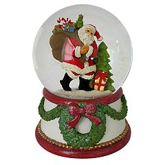 Wind-Up Musical Santa Christmas Snow Globe